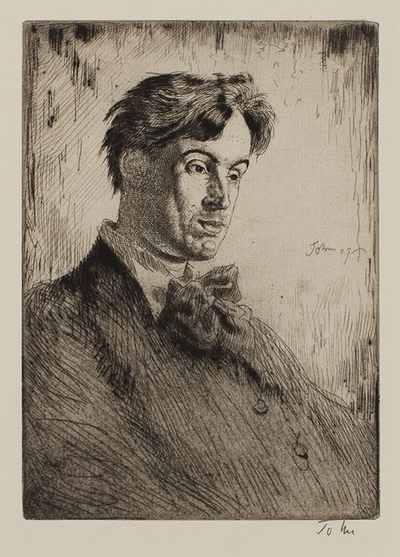 JOHN Augustus O.M. R.A. (1878-1961) - 'William Butler Yeats: Fifth Plate' (CD28) Etching.