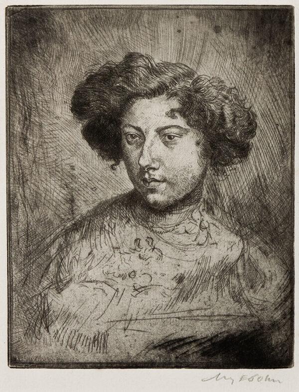 JOHN Augustus O.M. R.A. (1878-1961) - 'Esther' (Estella Cerutti) (CD42) Etching.