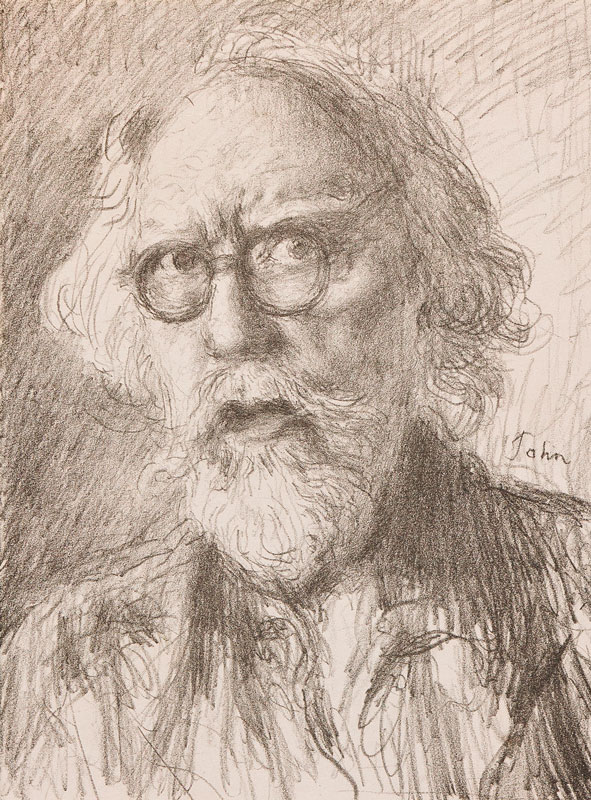 JOHN Augustus JOHN O.M. R.A. (1878-1961) - Self-portrait.