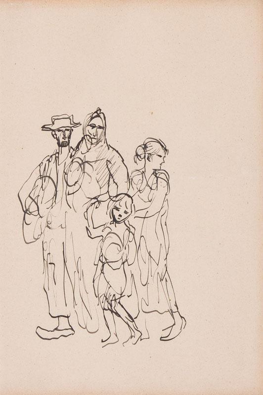 JOHN Augustus O.M. R.A. (1878-1961) - Irish Travellers.