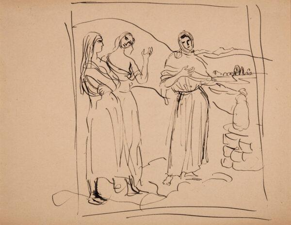 JOHN Augustus O.M. R.A. (1878-1961) - Study of Irish women.