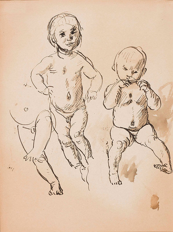 JOHN Augustus O.M. R.A. (1878-1961) - Studies of a child, possibly one of the artist's sons.