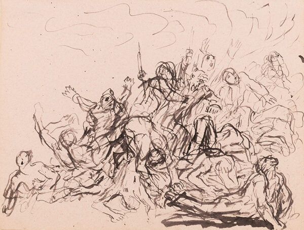 JOHN Augustus O.M. R.A. (1878-1961) - Study for a composition, possible for the subject 'The End of the World'.