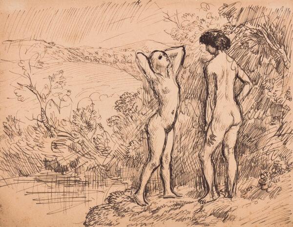 JOHN Augustus O.M. R.A. (1878-1961) - Adam and Eve.