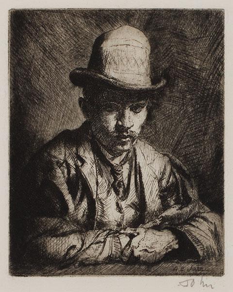JOHN Augustus O.M. R.A. (1878-1961) - 'Benjamin Evans' (CD14) Etching.