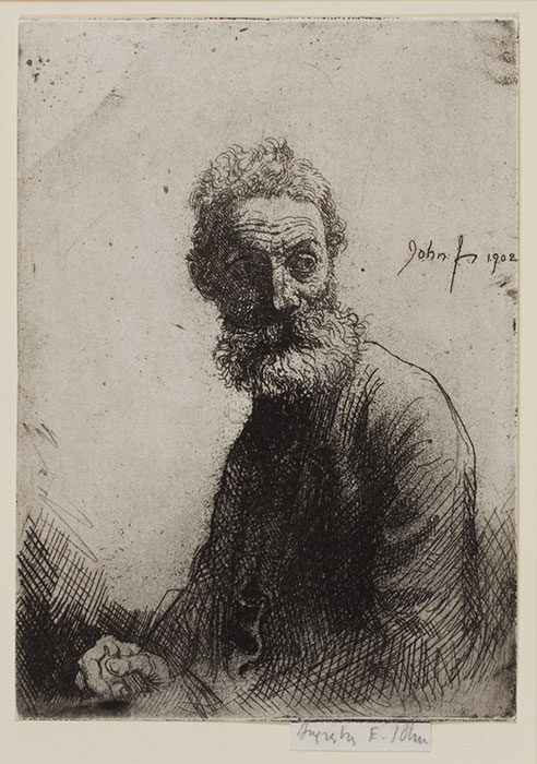 JOHN Augustus O.M. R.A. (1878-1961) - 'Old Man of Liverpool' (CD54) Etching.