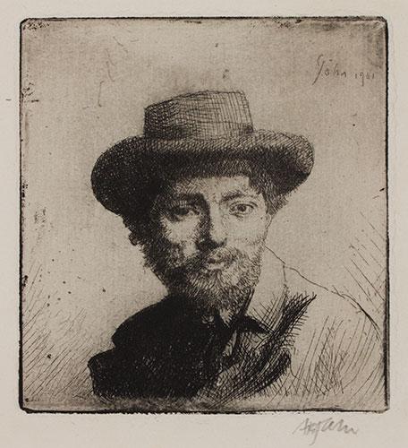 JOHN Augustus O.M. R.A. (1878-1961) - 'Portrait of the Artist' (CD1) Etching.