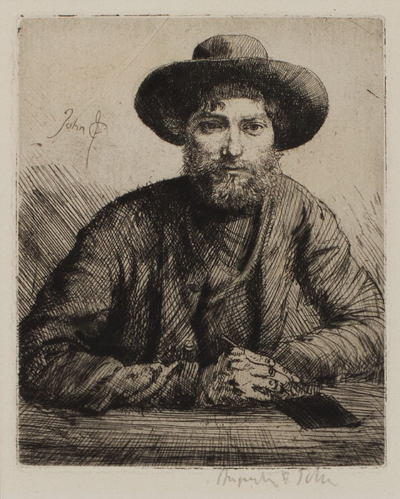JOHN Augustus O.M. R.A. (1878-1961) - 'Portrait of the Artist in a Hat' (CD5) Etching.