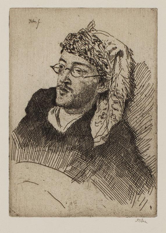JOHN Augustus O.M. R.A. (1878-1961) - 'Hope Johnstone' (CD139) Etching.