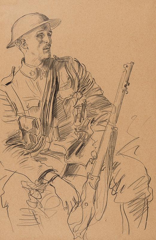 JOHN Augustus O.M. R.A. (1878-1961) - A Canadian Soldier.
