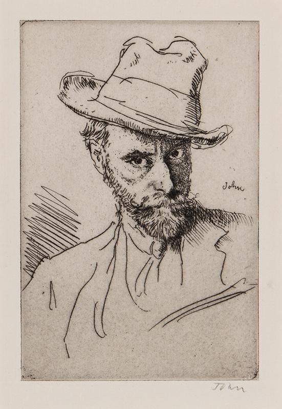 JOHN Augustus O.M. R.A. (1878-1961) - Self-portrait.
