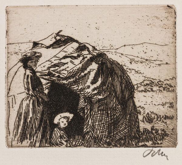 JOHN Augustus O.M. R.A. (1878-1961) - 'The Little Tent' (CD128).