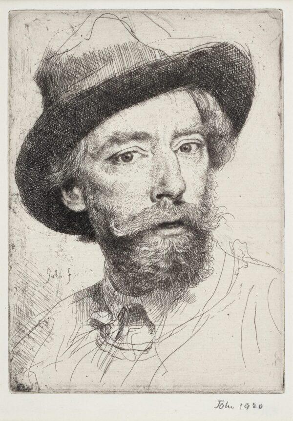 JOHN Augustus O.M. R.A. (1878-1961) - 'Self-portrait'.