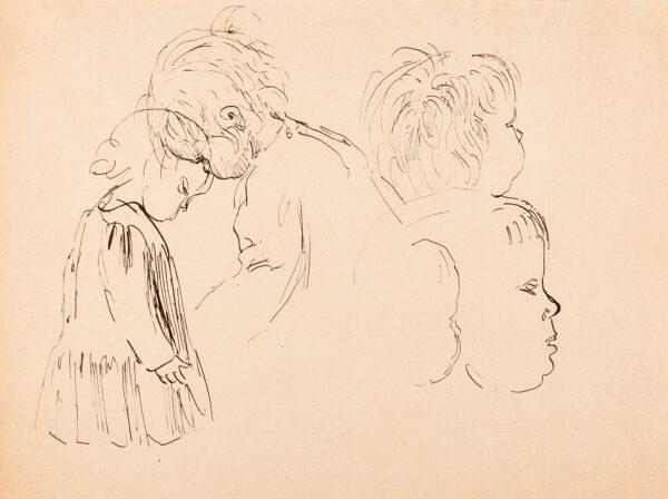 JOHN Augustus O.M. R.A. (1878-1961) - Studies of a boy, possibly Edwin John (1905-1978).
