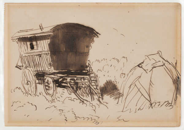 JOHN Augustus O.M. R.A. (1878-1961) - The Little Camp, Dartmoor.