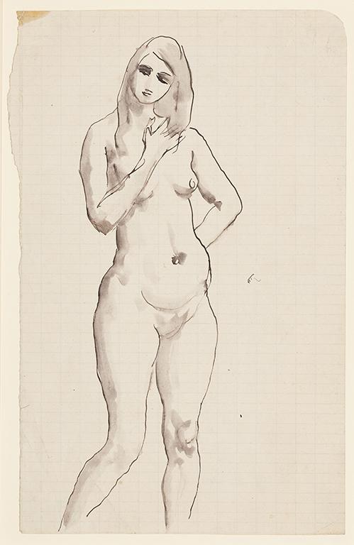 JOHN Augustus O.M. R.A. (1878-1961) - Study of a standing girl.