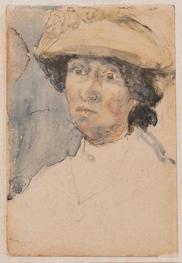 JOHN Gwen (1876-1939) - Woman in a hat.