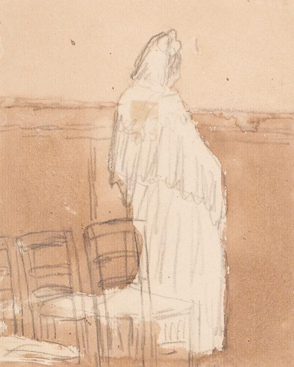 JOHN Gwen (1876-1939) - Standing Woman, Eglise Saint-Martin, Meudon.