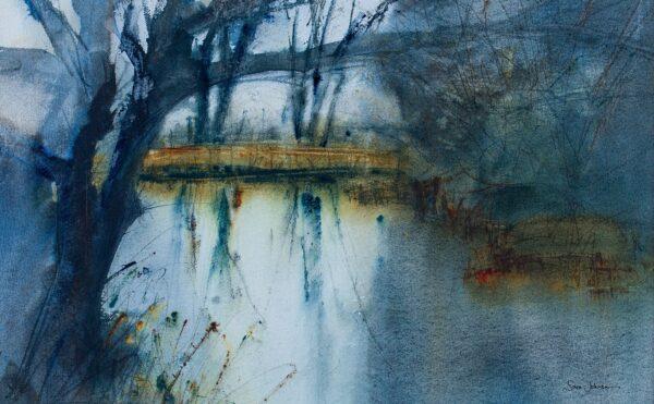 JOHNSON Sara (living) - River at dusk, East Anglia.