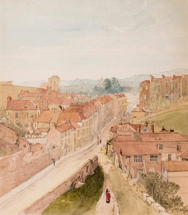 JOHNSON James (1803-1834) - 'Lower Berkley Place / from Bellevue, Clifton.