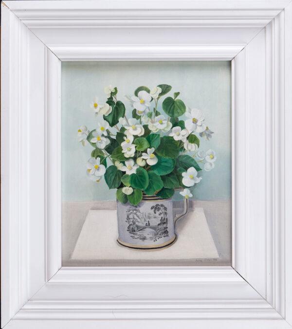 JOHNSON Audrey (1919-2005) - White Begonias.