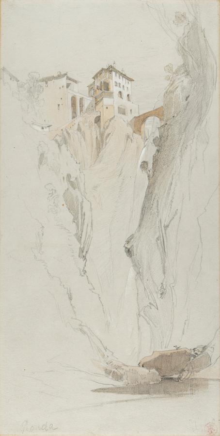 JOHNSON Harry John (1826-1884) - The Gorge at Ronda.