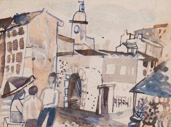 JOHNSTONE Gwyneth (1914-2010) - Spanish Village.