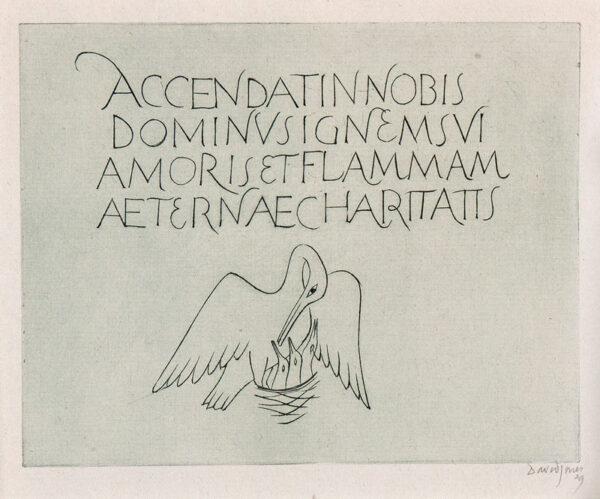 JONES David C.H. (1895-1974) - 'Pelican in her Piety': Accendat in Nobis.