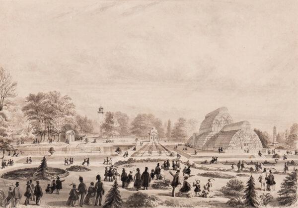JONES T. H. (probably Thomas Howell Jones fl.c.1840) - The Palm House, Kew Gardens.