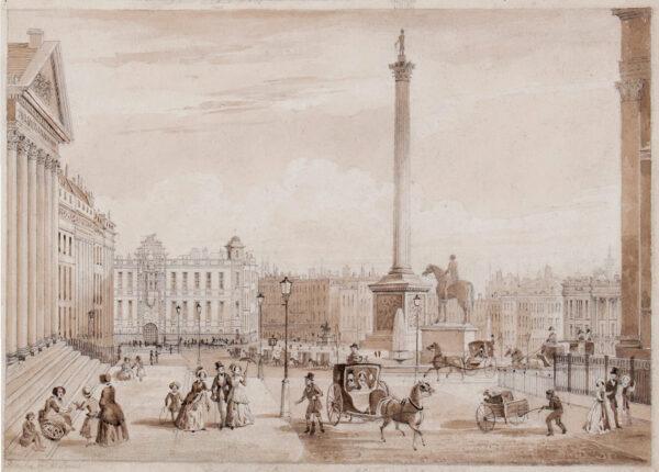 JONES T. H. (fl.1850s) - 'Northumberland House' and Trafalgar Square from the NE corner.