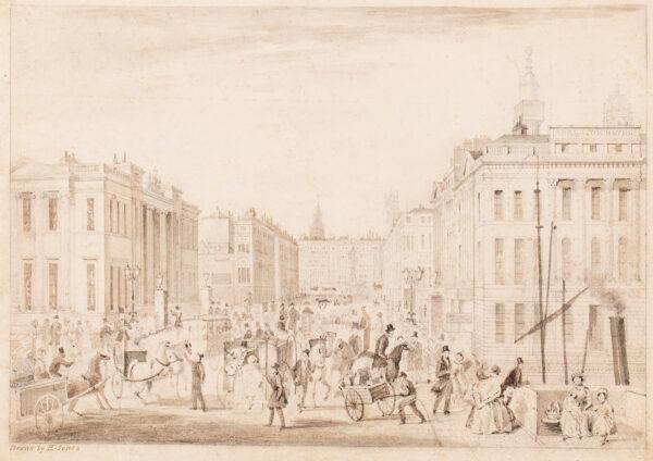 JONES T H (fl. mid 19th century) - King William Street from London Bridge.