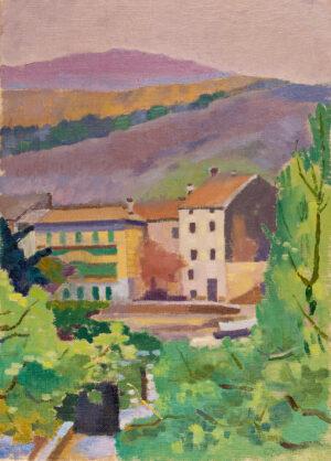 YARROW- JONES Ernest (1872-1951) - Landscape, Bormes.