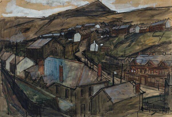 JONES Leslie R.E. (b.1934) - 'Tylorstown, Rhondda, S.