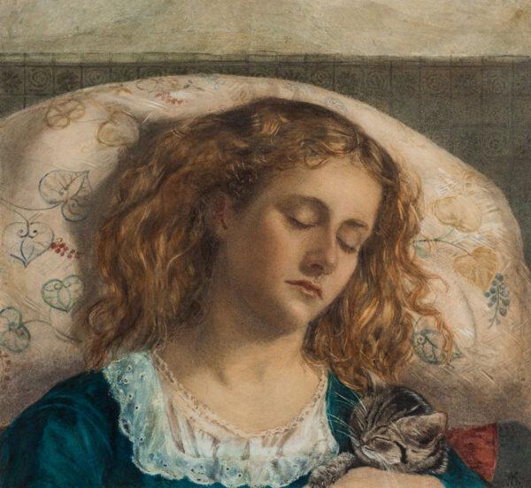 JOPLING Joseph Middleton (1831-1884) - Sleeping Girl.