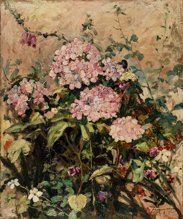 JUNGMAN Nico (1872-1935) - 'Hydrangeas'.