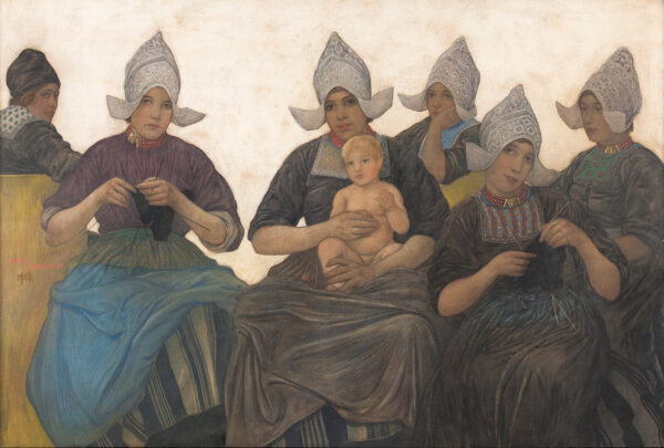 JUNGMAN Nico (1872-1935) - Volendam Nativity.