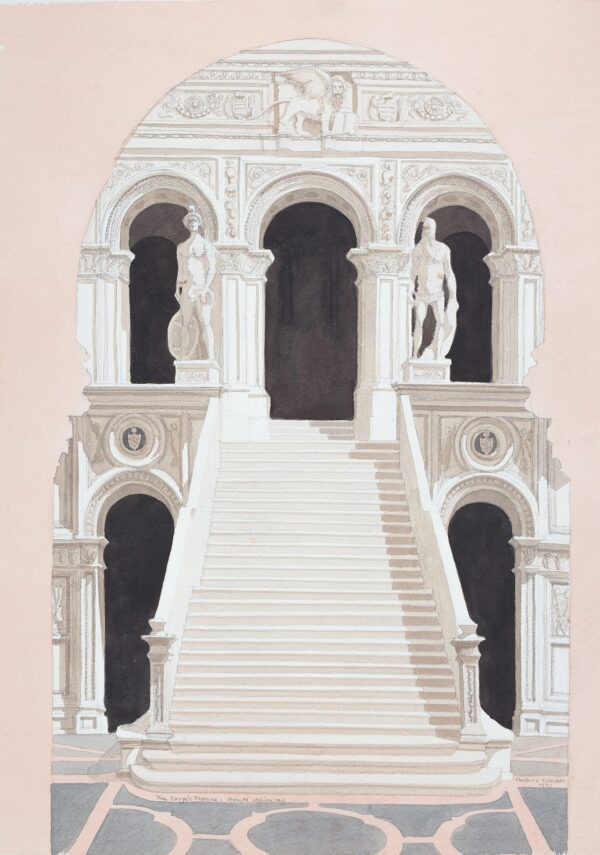 KALDOR Andras (b.1938) - 'The Doge's Palace and Giant's Stairway', Venice.
