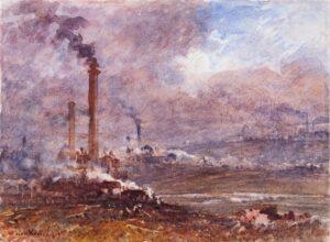 KEELEY John (1849-1930) - 'Among the Coal Pits, Staffordshire'.