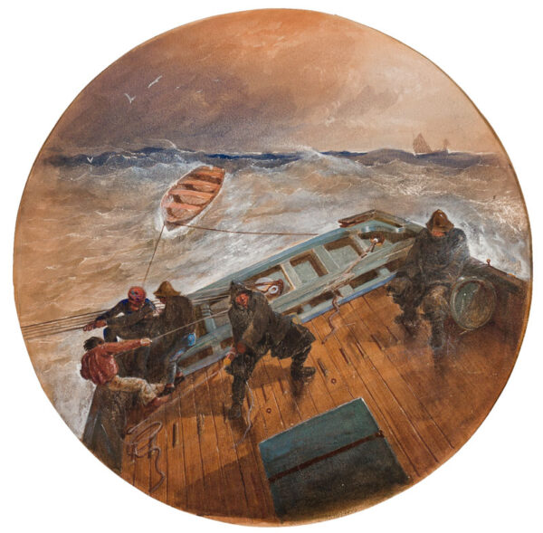 KEENE Charles (1823-1891) - The helmsman.