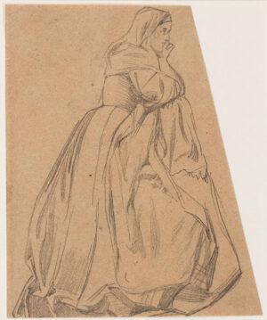KEENE Charles (1823-1891) - Study of a girl.
