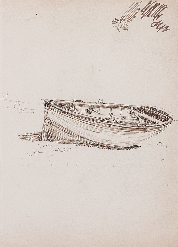 KEENE Charles (1823-1891) - Study of a dinghy.