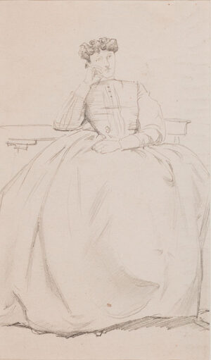 KEENE Charles (1823-1891) - Study of a seated woman I.