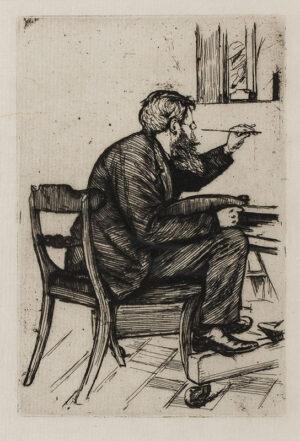 KEENE Charles (1823-1891) - 'Edwin Edwards (1823-1879) painting' (Chesson 7).