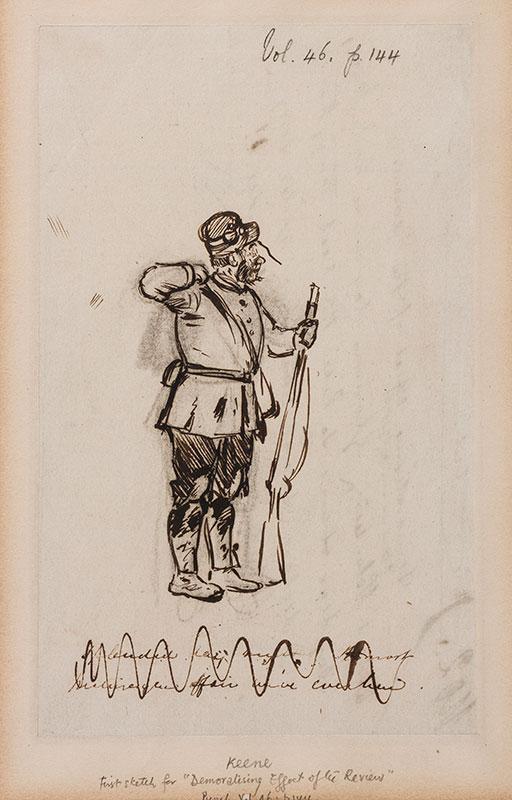 KEENE Charles (1823-1891) - A Volunteer.