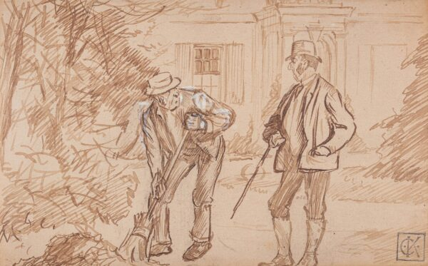 KEENE Charles (1823-1891) - 'What in the Captain's but a choleric word…' A Squire and his Gardener.