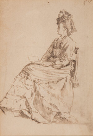 KEENE Charles (1823-1891) - Seated woman.