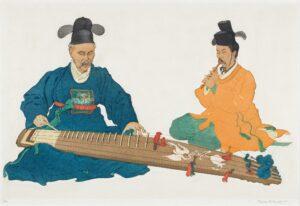 KEITH Elizabeth (1887-1956) - Court Musicians, Korea.