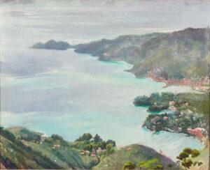 KELLY Sir Gerald P.R.A. (1879-1972) - Portofino across the Gulf of Tigullio.