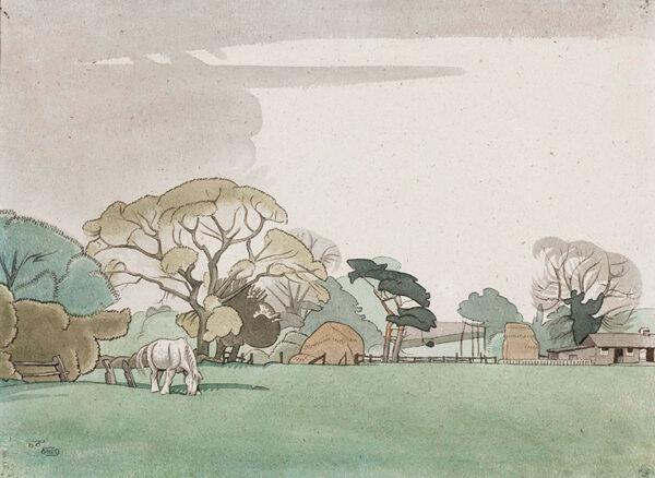 KELLY Richard Barrett Talbot (1896-1971) - 'The Barlby Horse', Lincolnshire.