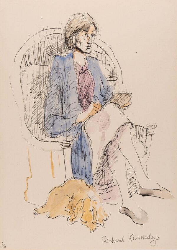 KENNEDY Richard (1910-1989) - 'Portrait of Virginia Woolf'.